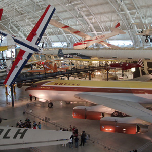 Hanger at the Smithsonian Air and Space Museum, Dulles International Airport, Washington